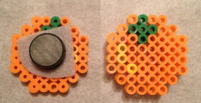 Orange perler bead magnet by Elly-Monshtawr on deviantart