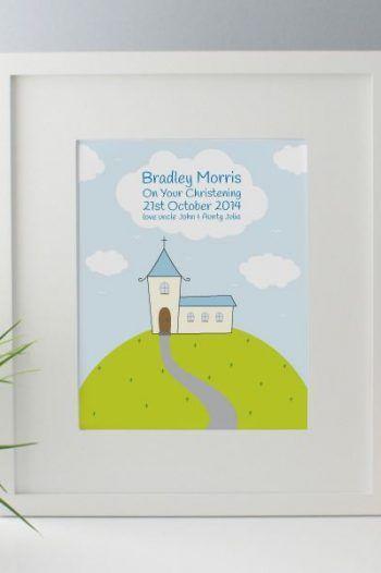Personalised Boys Christening Framed Print 220x330 The best christening gift ideas