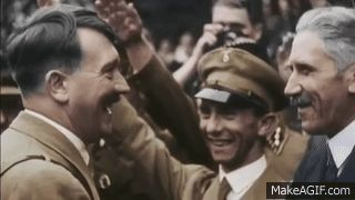 Wow, this is perfection. Rare clip of Hitler and Goebbels both totally unaffected. Franz von Papen on the right.