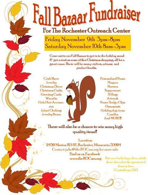 Fall Fundraiser Flyer Photo Fall Bazaar Fundraiser