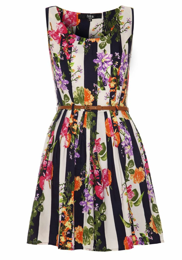 Flower and Stripe Dress