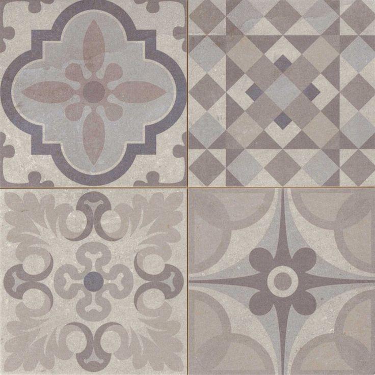 Carrelage style ciment gris taupe SKYROS 44x44 cm - As de carreaux