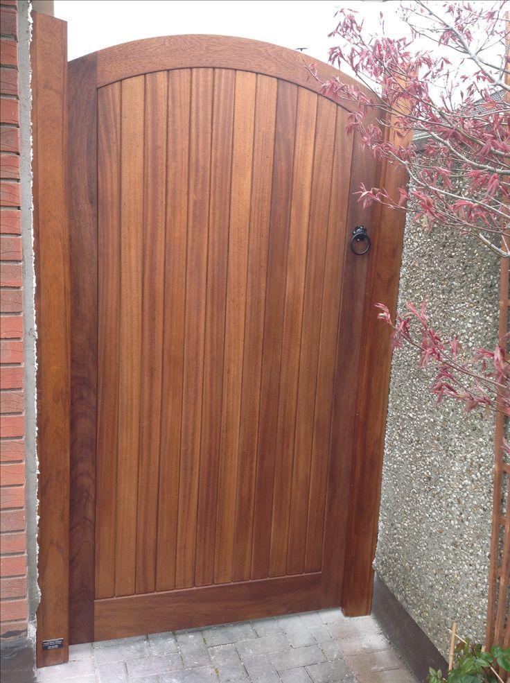 Iroko teak side gate by Burke joinery