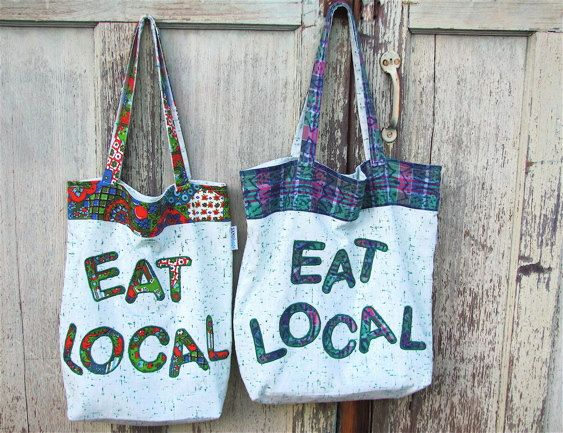 Every vender at a Farmer's Market would love these.....available on Etsy at SandBagsDesigns