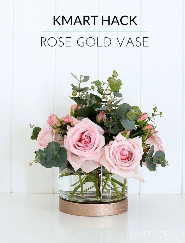 Kmart Hack Rose Gold Hurricane Vase Diy Decorator Rose Gold Vase Kmart Hacks Diy Vase