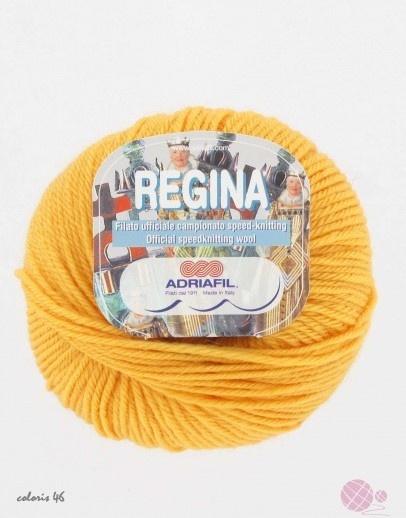 Adriafil Regina : La laine regina d'Adriafil est une pure laine mérinos traitée pour passer en machine. Très chaude et douce, elle se tricote ave des aiguilles 4.5.