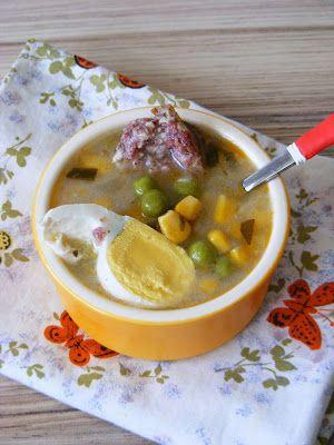 Makacska konyhája: Tárkonyos zöldborsó leves