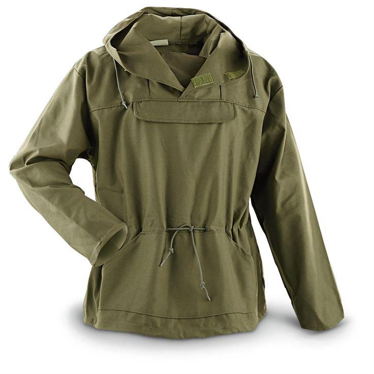 New U.S. Military Surplus Anorak Field Jacket, Olive Drab