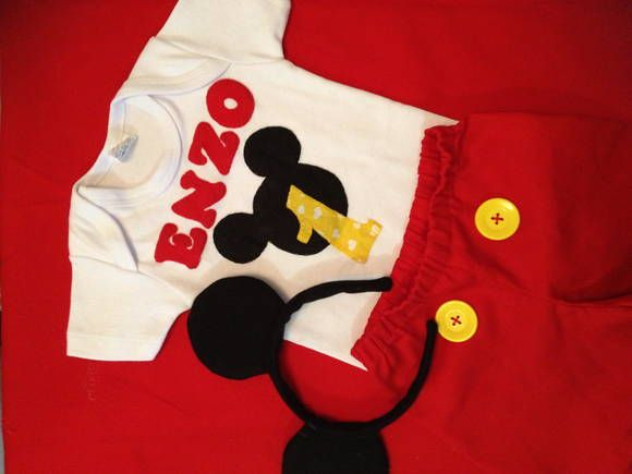 Fantasia infantil do Mickey. R$ 95,00