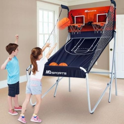2 Player Basketball Game LED Foldable 3 Balls NBA Basket Hoop Rim Net Gift Xmas #MDSports