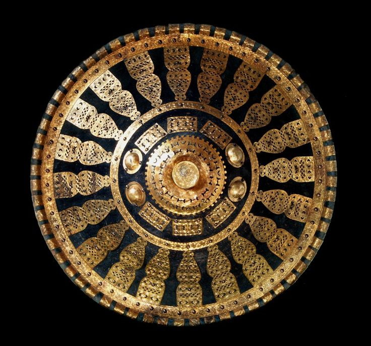 Amhara Shield With Gilded Ornaments African Shields