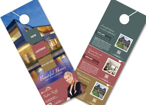 Best Real Estate Door Hangers Images On   Better