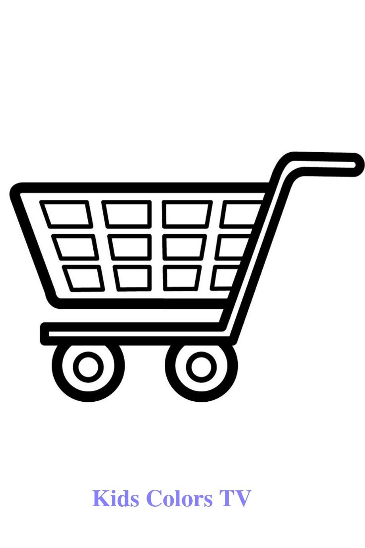 Glitter Shopping Cart Coloring And Drawing For Kids Toddlers Learns Colors With Kids Colors Tv Learning Colors Drawing For Kids Coloring For Kids