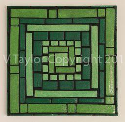 The Paperer Pulp to Sculpt Collection Colour: Green Artwork Size: 41.5cm x 41.5cm x 4cm