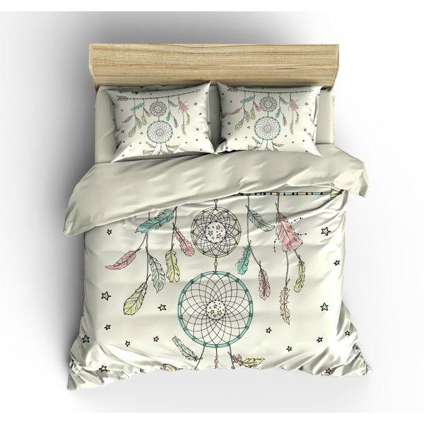 boho chic bedding duvet cover set catch a dream dream catcher 119 king size
