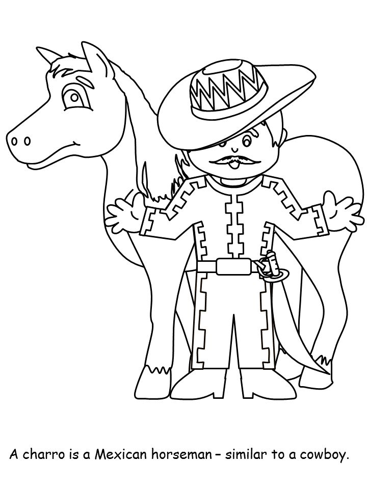 mexican crafts and coloring pages - photo#13