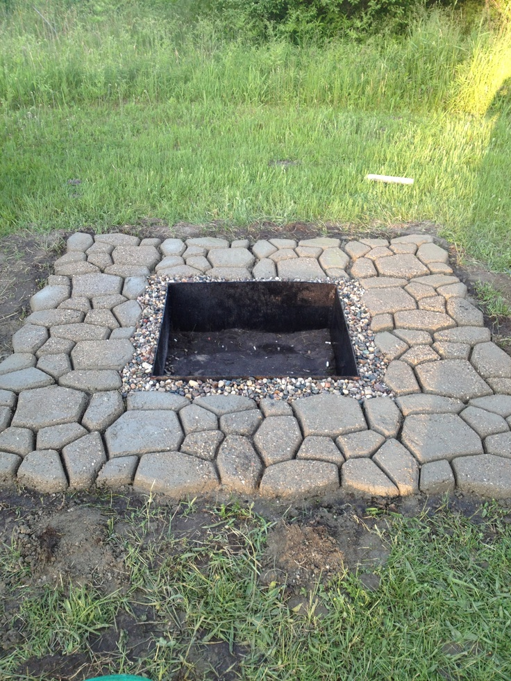 1000 ideas about in ground fire pit on pinterest fire for How to build a round fire pit