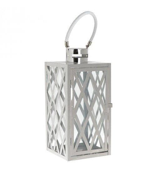 METALLIC LANTERN IN WHITE_SILVER COLOR 16_5X16_5X30_45