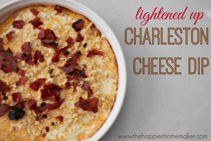 Make the most popular appetizer at the party with this recipe for lightened up Charleston Cheese Dip!