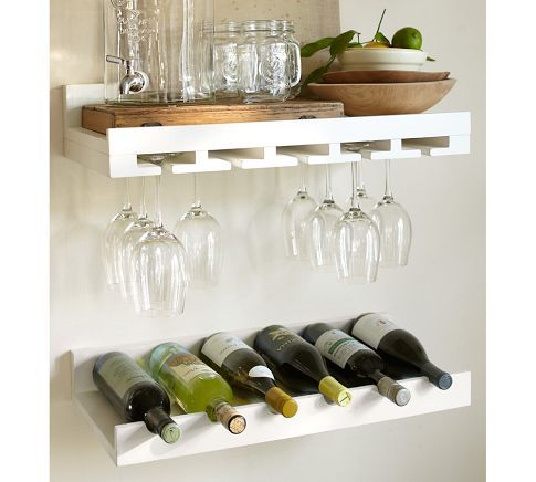 1000 images about wine cooler on pinterest liquor for Pottery barn wine rack wood