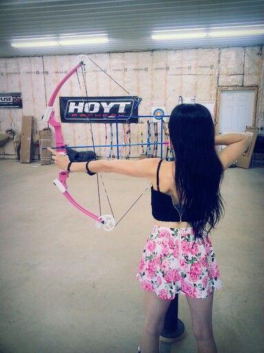 Pink archery girl
