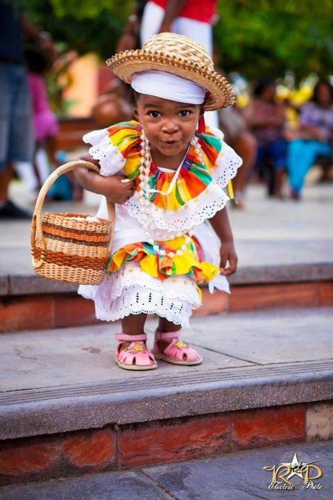 Adorable little Haitian girl