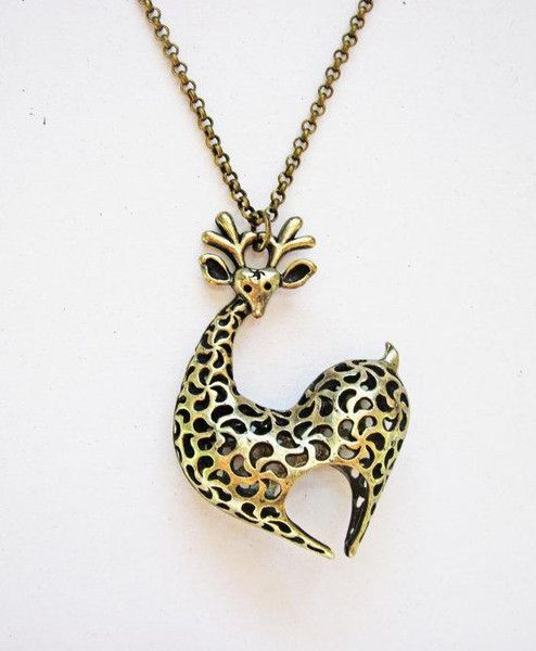 Collana giraffa, gioiello animale di RobertaValle su DaWanda.com