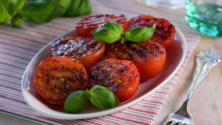Stekte tomater - Rask - Oppskrifter - MatPrat