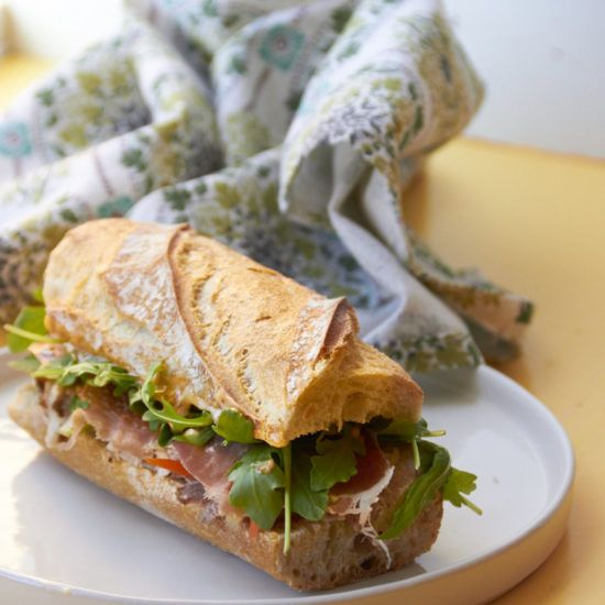 Banh Mi with Prosciutto and Roasted Pork by Katie Workman/themom100.com
