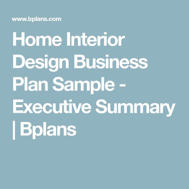 Best  Interior Design Business Plan Ideas On   How