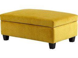 Cyan Design Aldous Yellow Ottoman