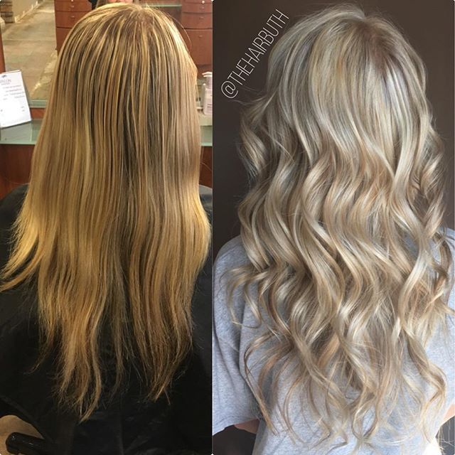 BEFORE & AFTER: bright birthday hair for the gorgeous @courtneydanielson133 🎉👸🏼 #nofilter #spalon #spalonmontage #salon #hayleyatspalon #thehairbuth #cosmetology #cosmetologist #haircut #haircolor #color #woodburyhair #mnhairstylist #woodburyhairstylist #woodburymn #spalonstylist  #mnstylist #mnhair #askforhayley #cut #hairstylist #minnesotahair #twincities #minnesota #woodbury #licensedtocreate #naturallight #spalonwoodbury #spalonmontagewoodbury