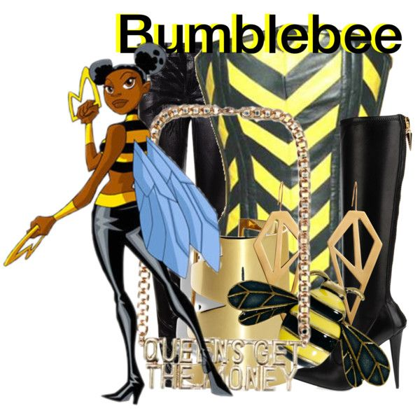 """""""Bumblebee from Teen Titans"""" by likeghostsinthesnow on Polyvore"""