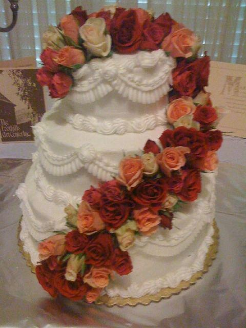 Heb cakes heb cake real rose cascading down lov anniversaries ideas