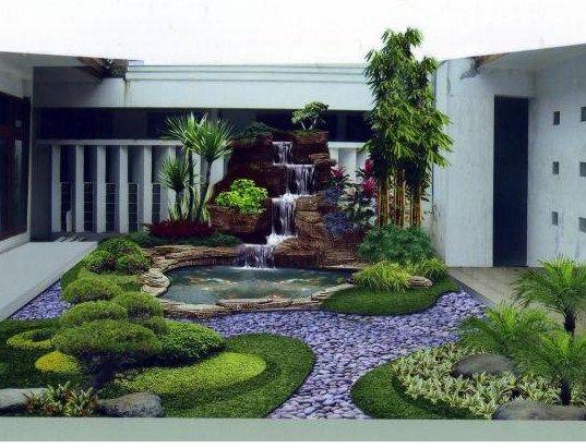 Desain Taman Rumah Cantik Minimalis Sederhana 4 Garden Design Backyard Pond Design