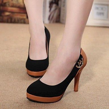 pompes de chaussures pour femmes à bout rond plate-forme des talons aiguilles en daim chaussures (plus de couleurs) - EUR € 21.48
