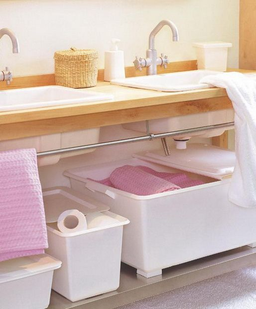 Best Inspiring Organised Spaces Bathroom Images On Pinterest - Pink towels for small bathroom ideas