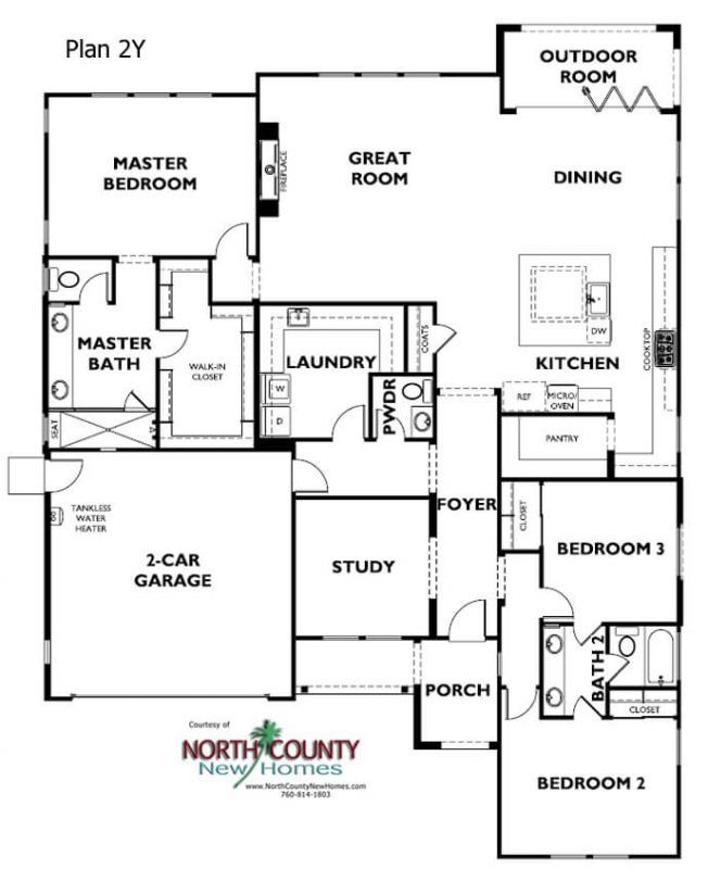 Alcove Floor Plans Encinitas New Homes North County New Homes Floor Plans How To Plan New Homes