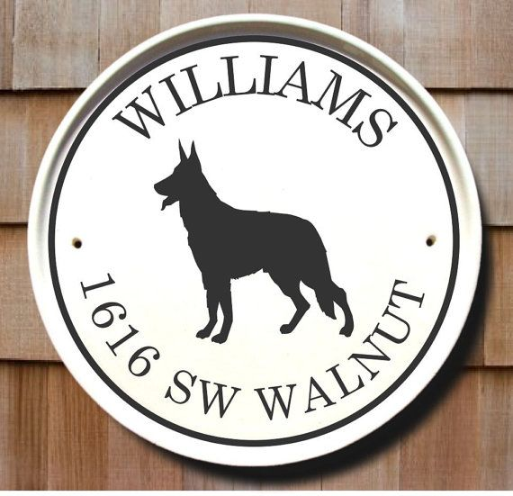 German Shepherd Custom Outdoor Name Sign Gift House Numbers Personalized Address Housewarming Marker