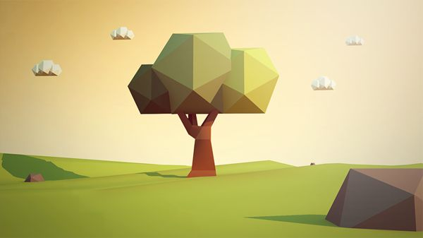 Spring - Low Poly on Behance