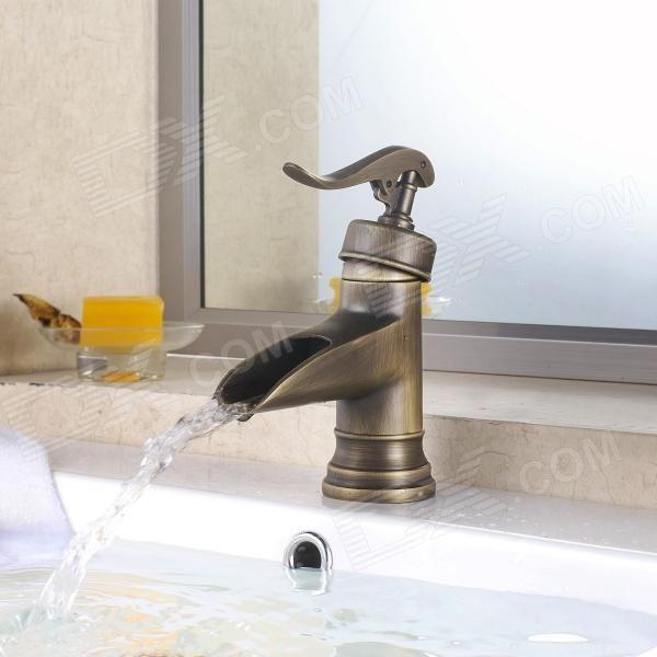 YDL-F-0501 de latón antiguo baño caliente / fría del grifo - Bronce