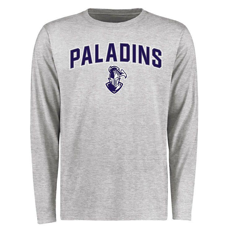 Furman Paladins Proud Mascot Long Sleeve T-Shirt - Ash - $37.99