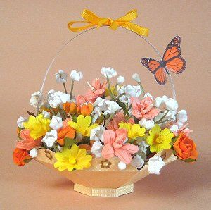 CARD MAKING TEMPLATES FOR FLOWER BASKET & DISPLAY BOX
