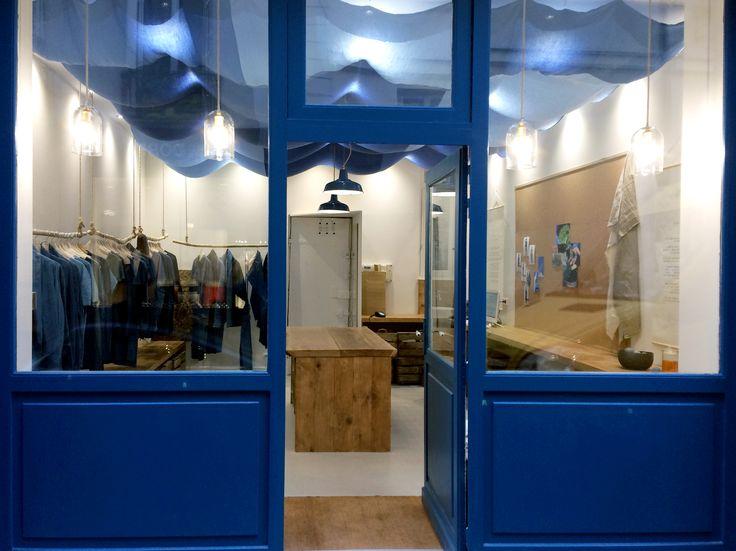 57 Rue Charlot 75003 Paris, France  Bleu de Cocagne first official store! #bleudecocagne #pastel #woad #blue #natural #slowfashion #sustainable #consciousfashion #store #paris