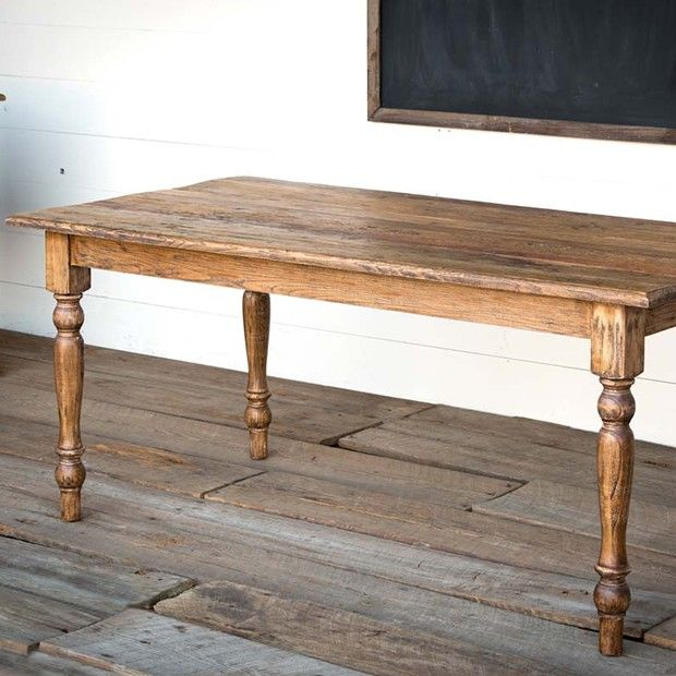 Reclaimed Elm Wood Dining Table In 2020 Reclaimed Dining Table