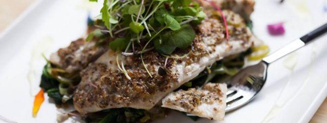 Zeste | Tilapia en croûte de chia et parmesan de Caroline McCann