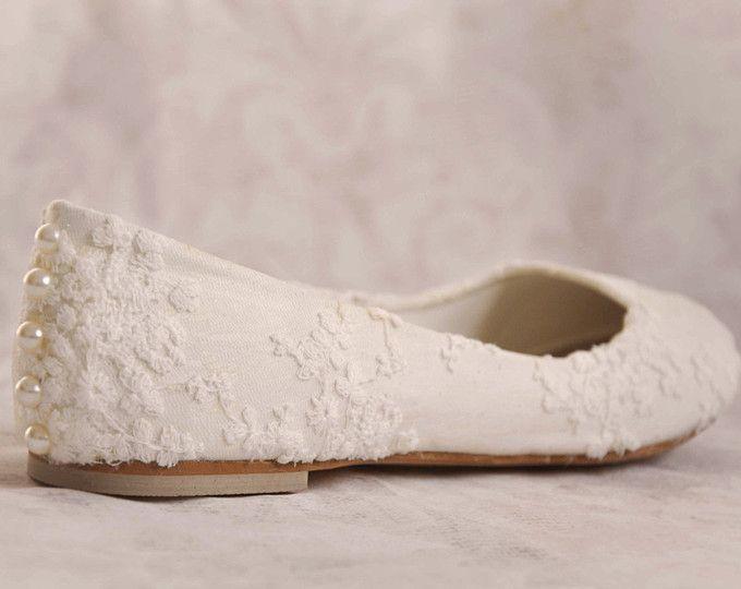 0ac611e0d8c1b Bridal Flats Wedding Shoes Ivory Barefoot Sandals Beach White