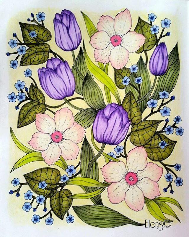 199 best Blomster Mandala aka Twilight Garden Coloring Book - Maria ...