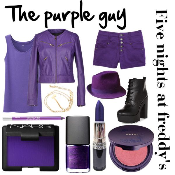 """Five night's at Freddy's inspired outfits #5 The purple guy/Vincent"" by tortured-puppet on Polyvore"