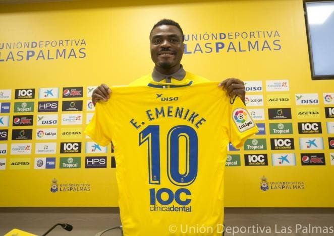 Former Super Eagles Striker, Emmanuel Emenike Unveiled By Spanish Club